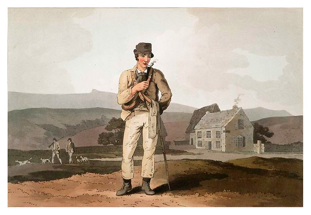 028-Guia de caza en el paramo-The costume of Yorkshire...1814- George Walker