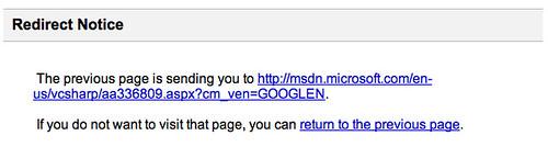 Google Redirect Bug