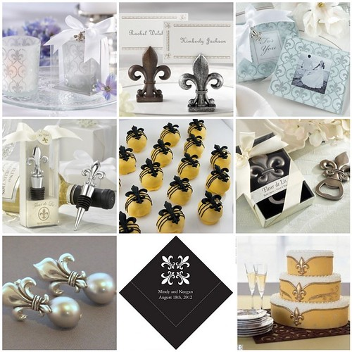 Fleur-de-Lis Wedding Decorations and Favors - So Regal | Things ...