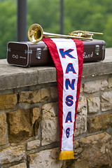 Instrument at the ready for KU Commencement