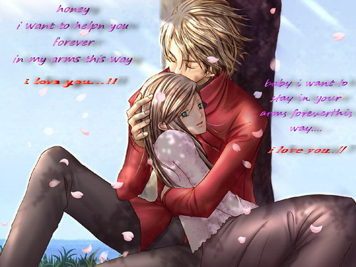 cute anime couples in love. anime couple cute. hug