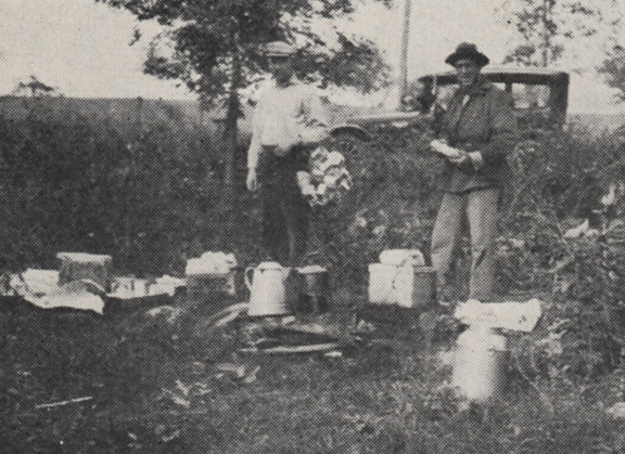 Feast at the Fishing Club Outing 1918 by UA Archives  Upper Arlington History