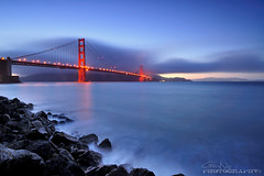Golden Gate Bridge  [Explore #485] (Gary Ngo | Photography) Tags: sanfrancisco california longexposure blue light sunset urban seascape rock fog landscape nikon cityscape explore goldengatebridge fortpoint 1224mm d5000 photographyblog hitechfilter bestcapturesaoi patricksmithphotography elitegalleryaoi mygearandmepremium mygearandmebronze mygearandmesilver mygearandmegold mygearandmeplatinum mygearandmediamond sonyphotochallenge
