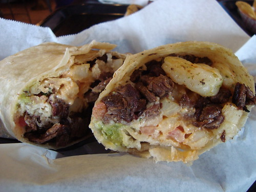 Surfin' California Burrito @ Lucha Libre Taco Shop