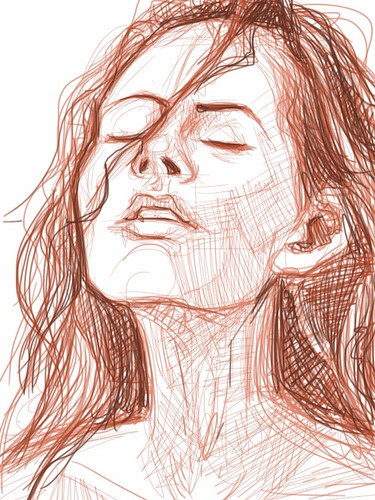 digital sketch studies of Megan Fox 2b on iPad SketchBook Pro