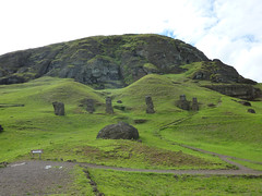 Easter Island Day 14 167 Rano Raraku (TravelShorts) Tags: chile travel southamerica island volcano statues heads moai easterisland quarry isolated rapanui isladepascua ranoraraku hotomatua