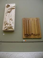 C&G Show 2010 (annalouiseparker) Tags: sculpture carving acanthus woodcarving linenfold lettercarving cityandguildsoflondonartschool cgshow2010