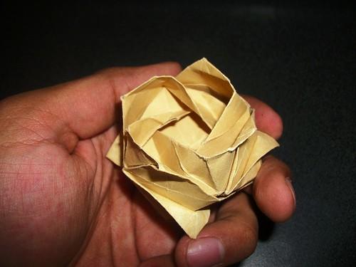 Kawasaki Rose - Rosa Kawasaki de origami