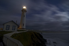 Pigeon Point Noir (Matt Granz Photography) Tags: ocean longexposure cliff lighthouse night clouds stars evening nikon waves pacific rustic tokina explore motionblur shore 1224mm pigeonpoint hwy1 sanmateocounty d90