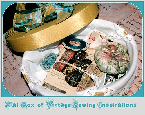 Hat Box of Vintage Sewing Inspirations
