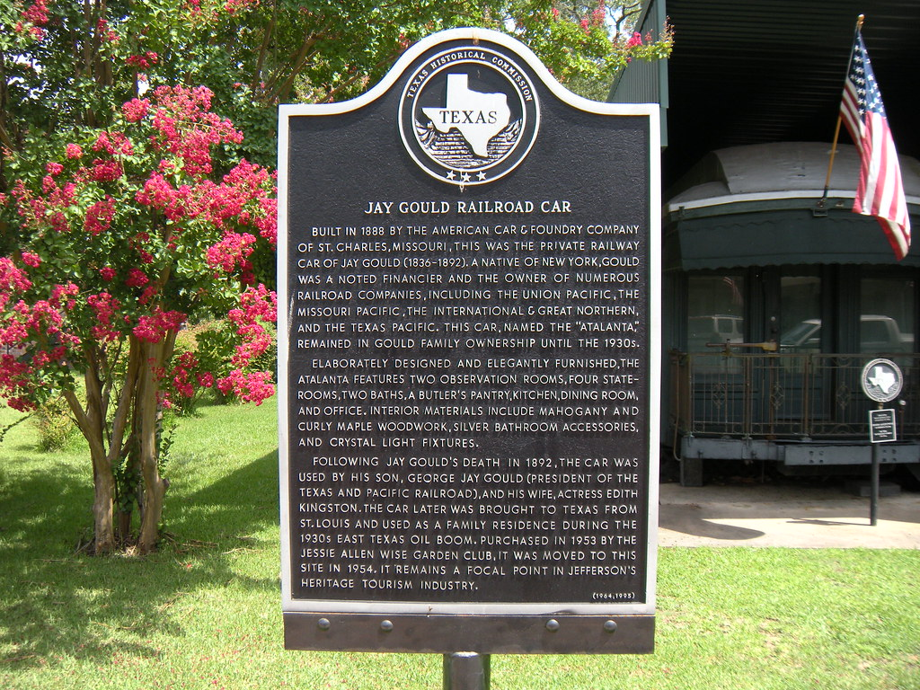 Jay Gould Railroad Car, Jefferson, Texas Historical Marker