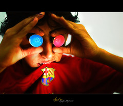 Flickr & FC barcelona (RAY OF SUN !!) Tags: barcelona lighting pink blue light red model flickr good fc moath   alghamdi