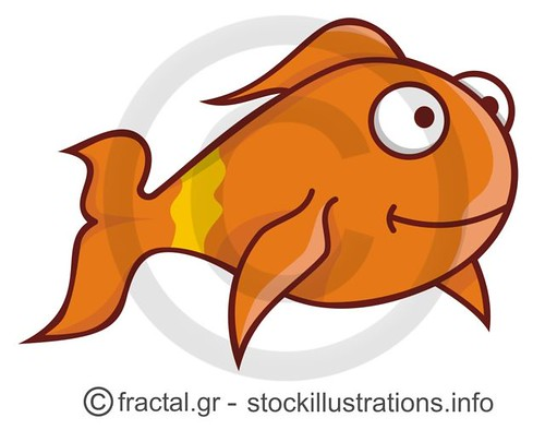 goldfish cartoon. Goldfish cartoon - Stock