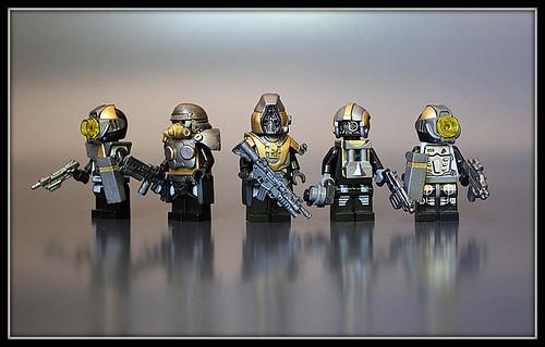Cyborgs Rising custom minifigs