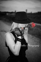 Love and Roses (~FreeBirD~) Tags: life bw black colour love stockings girl face hat rose contrast photography model dress lips gloves effect mib blacklife circleoflove manibabbar modelinblack maniya nikond700 manibabbarphotography gettyfamily2010