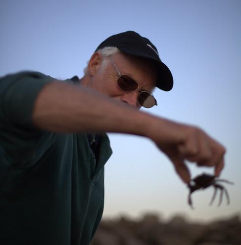 granddad grabs a crab