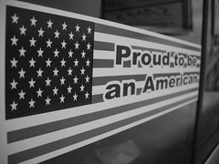 My home (sweptbytime) Tags: blackandwhite truck patriotic