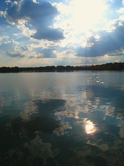 Reflection (CulinaryBoner) Tags: lake water clouds dc rays