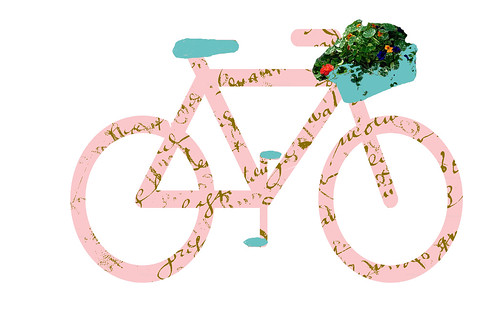 French script bicycle
