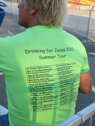 Your entire summer church festival schedule on a wonderfully offensive t-shirt