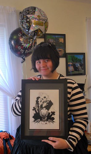 Amanda & her Gris Grimly artwork
