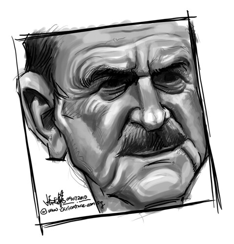 digital sketch studies of John Cleese - 7