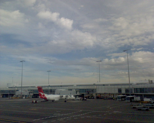 Clouds at the airport