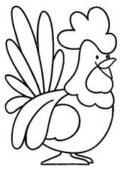 Galo (Luciana de Campos) Tags: galinhas riscos moldes aplicação patchcolagem