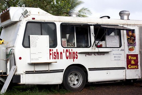 @ the fish n' chips truck