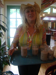 Chocolate Milk for All! (ohwhatachristy) Tags: cafe omega july joanne 2010