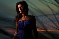 Tatiana (David Olkarny Photography) Tags: sea beach girl night umbrella dress wind tatiana merdunord 105mm skintones 580exii 5dmarkii davidolkarny