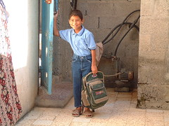 The Orphan with the School Bag in Palestine