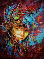 "C215 - ""I Will Fly Away"" (C215) Tags: streetart art french graffiti stencil christian pochoir masacara szablon c215 schablon gumy piantillas"