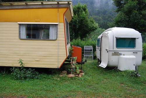 grote en de kleine caravan