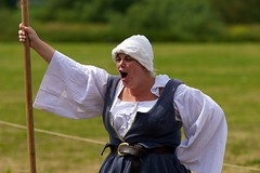 Tewkesbury Festival 2010 - Rallying Cry! (Mark-Crossfield) Tags: pictures york uk greatbritain england photo fight war king image photos redrose picture battle images medieval gloucestershire queen gloucester lancaster reenactment daysout 2010 whiterose tewkesbury englishrose 1471 finalbattle thingstosee warsoftheroses photosof picturesof englishgirl henryvi annualevent waroftheroses worthseeing englishwoman tewkesburymedievalfestival imagesof jaspertudor medievalrose markcrossfield bloodymeadow tewkesburyfestival tewkesburyreenactment edwardofyork margaretanjou