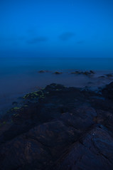 Calblanque (Alejandro Rosa) Tags: espaa naturaleza mar lugares nocturna acantilados temas calblanque tcnicas regindemurcia efectoseda