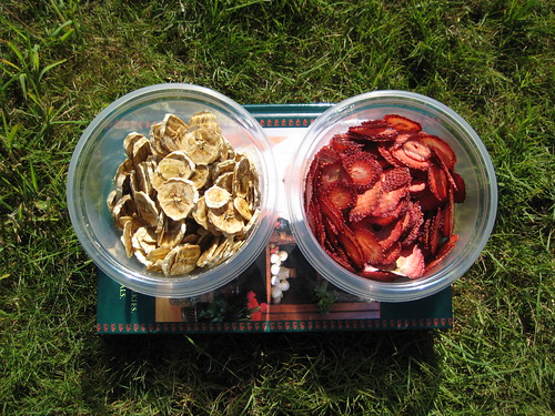Dehydrated Bananas and Strawberries