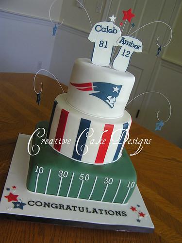 NE Patriots Grooms Cake