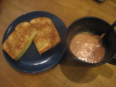 Grilled cheese and gazpacho