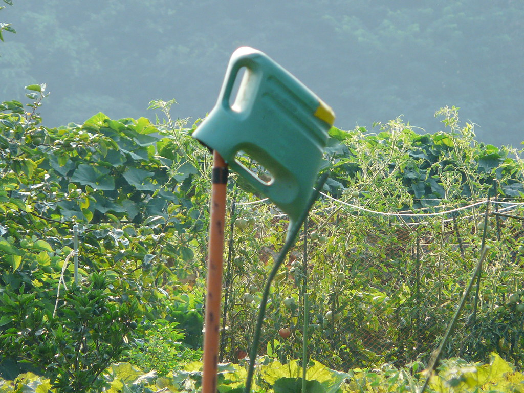 Watering Can Storage on Spade