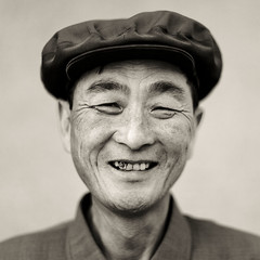 The smiling chief of the village  - Chilbo sea - North Korea (Eric Lafforgue) Tags: sea portrait man smile face war asia chief korea cap chef casquette asie coree homme northkorea dprk coreadelnorte nordkorea 9864    coreadelnord  chilbo hamgyong  insidenorthkorea  rpdc  kimjongun coreiadonorte