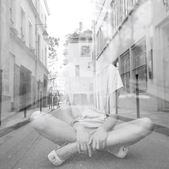 When you speak angels (Flibustier et Cie) Tags: bw woman paris 6x6 girl beautiful mediumformat exposure kodak gorgeous awesome femme double nb bronica belle jolie lovely doubleexposition brune magnifique lucie sqa frenchwoman moyenformat ravissante carrfrancais femmefrancaise ludovicsanchez