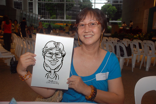 Caricature live sketching for KidsRead Volunteer Appreciation Day 2010 - 2