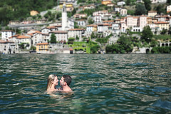 What Goes in Italy.... (Extra Medium) Tags: wedding italy engagement jon kissing husband villa wife alison lakecomo lezzeno