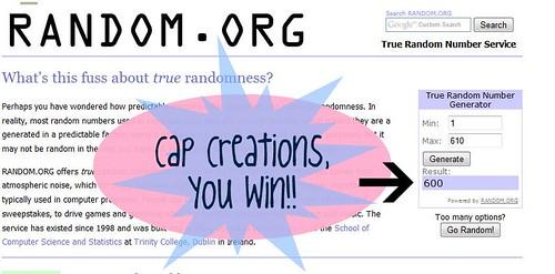giveaway #3 winner
