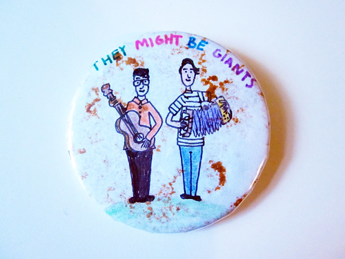 They Might Be Giants artwork from my childhood - pin back button.