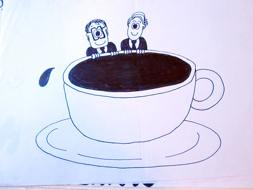 They Might Be Giants artwork from my childhood - coffee cup. Inspired by Cathy.