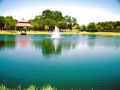 glendover park pond, allen, texas usa