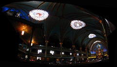 2008 07 12 - 4999-5007 - Montral - Basilique Notre-Dame (thisisbossi) Tags: windows autostitch canada interiors montral quebec montreal churches panoramas qubec christianity catholicism notredamebasilica ceilings skylights panoramics gothicrevival basiliquenotredame basilicas