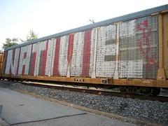 (.see what i see 2.) Tags: railroad train graffiti native autorack wholecar